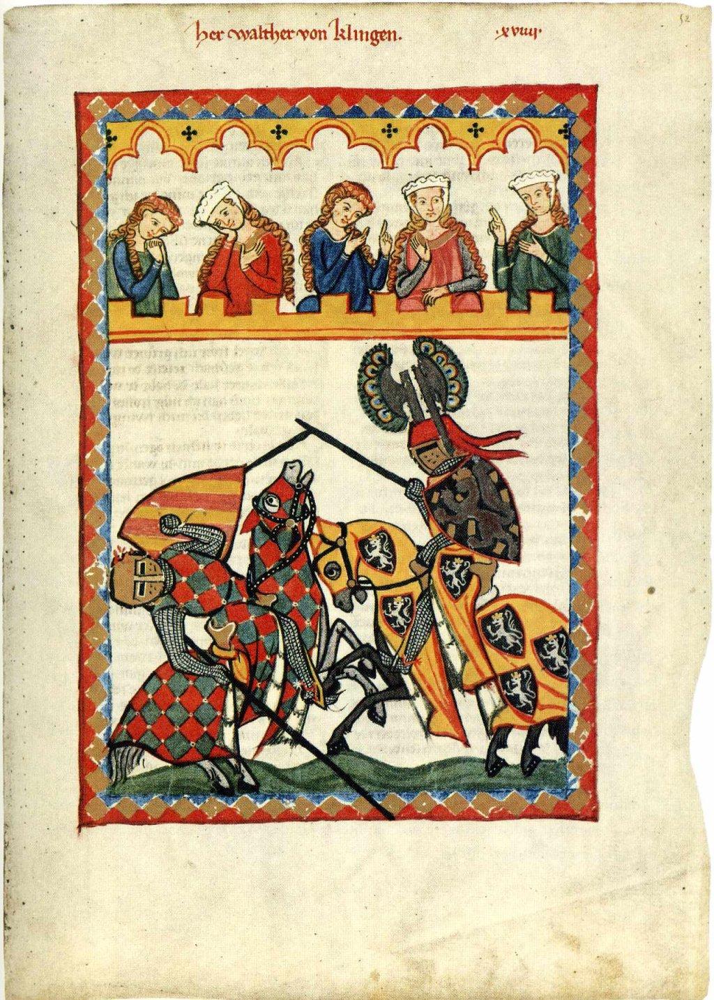 Walther von Klingen, Codex Manesse (um 1300)